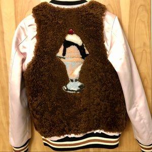 Coach Jackets & Coats - Coach Sundae Shearling Varsity Jacket
